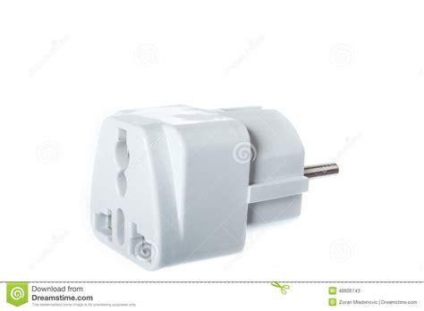 universal american european travel adapter converter plug stock