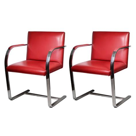 leather brno armchairs by gordon international for