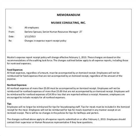 sample business memo templates   word