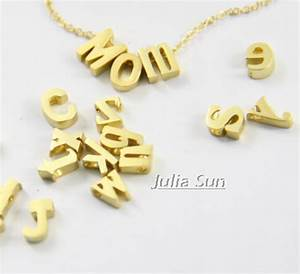 slide alphabet beadquality copper slide charms lowercase With gold letter beads for bracelets