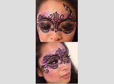 Masquerade mask face paint Makeup Pinterest