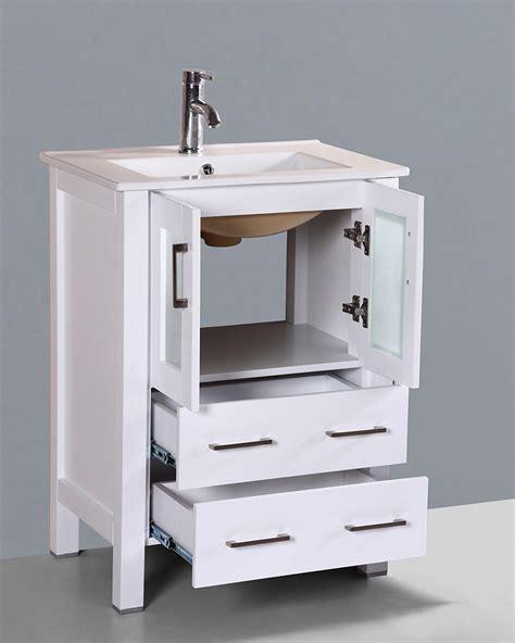 white 24in integrated single vanity by bosconi boaw124u