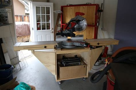 sliding miter  station plans woodworking projects plans