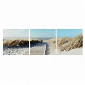 triptyque en plexiglas 60 x 60 cm vue sur mer maisons du With triptyque maison du monde