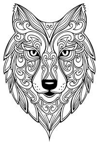 Wolf Animal Coloring Pages