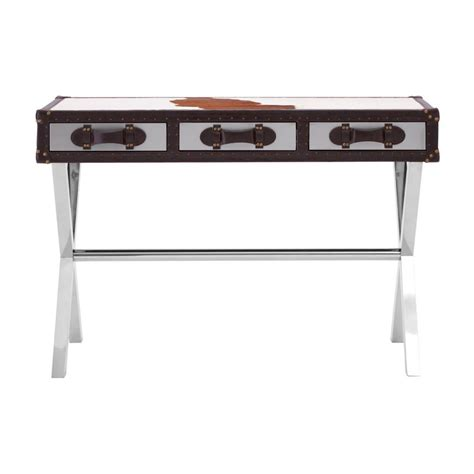Cowhide Table by Cowhide Console Table
