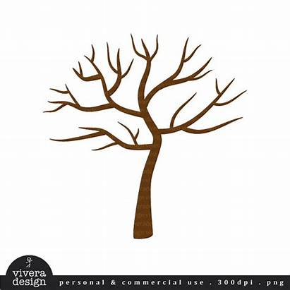 Tree Clip Trunk Leaves Clipart Without Fall