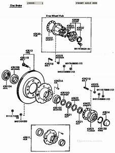 Fj40 Fj55 Fj60 Fj62 Fj80 Front Axle Hub Diagram Disc Brake