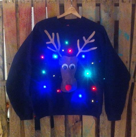 ugly light up christmas sweaters light up christmas quot ugly quot sweater lol christmas ideas