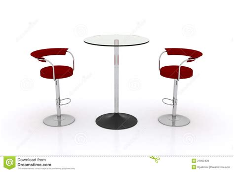 high glass top table w chairs stock illustration image