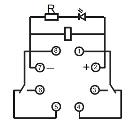 8 Pin Relay Configuration Diagram by Gr24vdcoctdpdt Dpdt 24vdc 10a 8 Pin Octal Power Relay