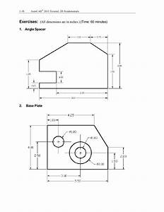 Autocad 2d Exercises For Beginners Pdf - autocad exercises