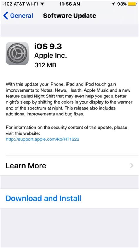 iphone ios update ios 9 3 update available to ipsw direct links