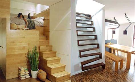escalier gain place petit espace accueil design et mobilier