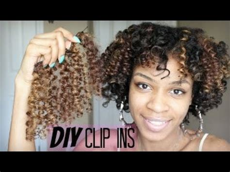 diy curly clip  hair extensions  natural