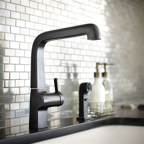 stainless steel faucets kitchen the evoke kitchen faucet in matte black looks spectacular