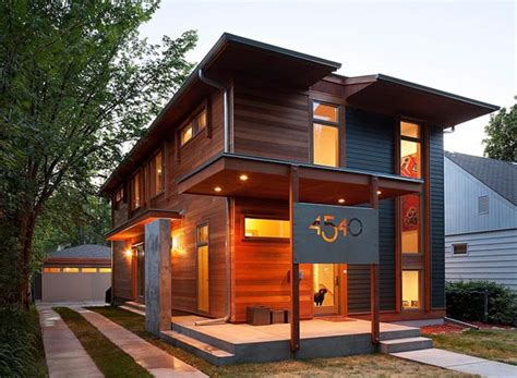 sustainable wooden house blending traditional