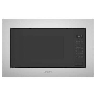 monogram  cu ft built  microwave  sensor cooking controls stainless steel  lowescom