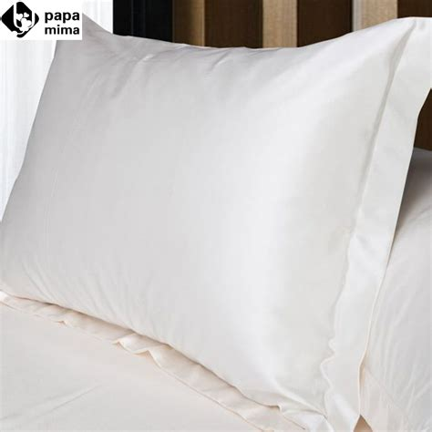 satin pillow covers 2pcs lot white pillowcase faux silk cover pillow solid 2105