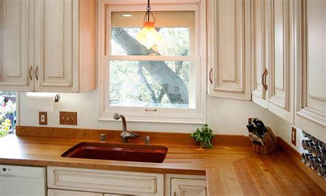 cherry wood countertop  sink  grothouse