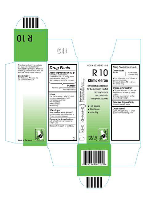 Dr Reckeweg R10 Klimakteran Combination Product