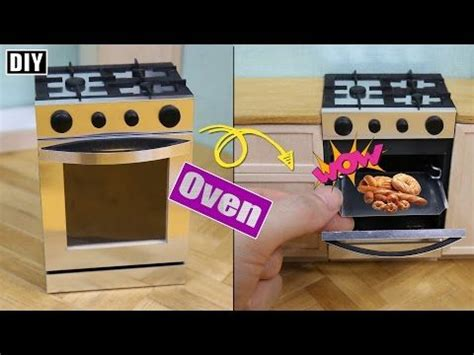 diy    oven dollhouse oven