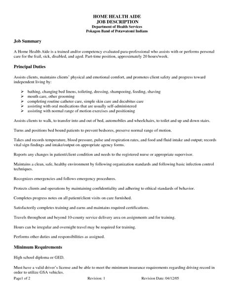 personal care assistant duties resume templates