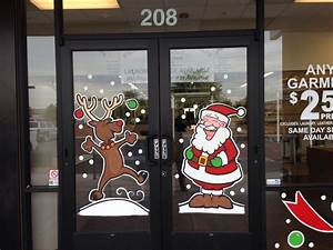 Christmas, Window, Painting