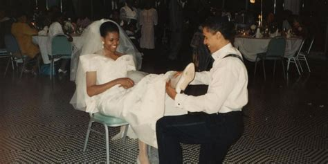 michelle obama shares wedding day photo    barack