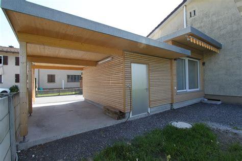 Anbau Mit Carport In Mels Sg  Jäger Holzbau Ag