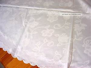 Tischdecke Rund 160 : satin tischdecke creme wei einwebmuster bogenrand rund 160 cm ~ Orissabook.com Haus und Dekorationen