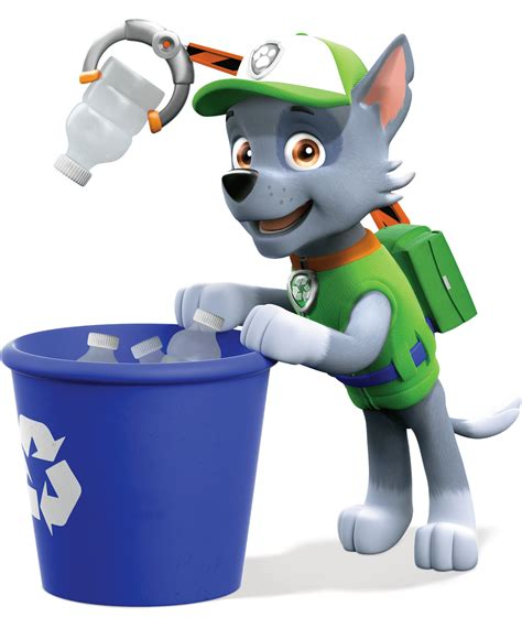 under trash can rocky collect trash paw patrol clipart png