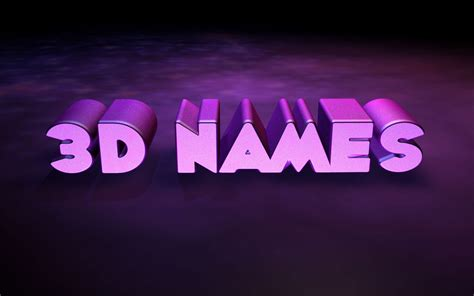 3d Name Wallpaper ·①