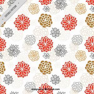 Hand drawn cute japanese flowers pattern Vector | Free ...