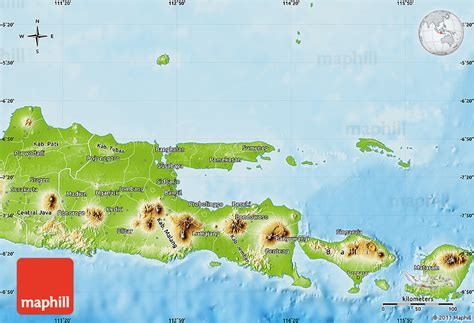 physical map  east java