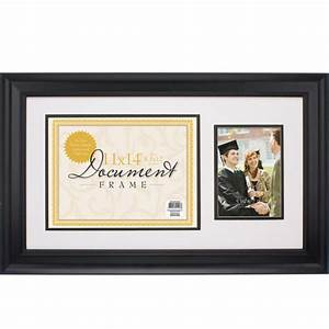 black document frame with 5x7 opening other home With multiple document frame