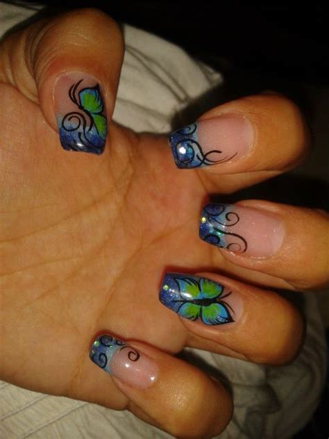 Tropical nails   My Nails designs / mis uu00f1itas   Pinterest   Tropical Awesome and Butterflies