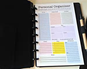 Personal Size Planner Printables