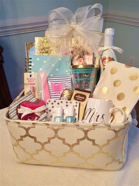 engagement gift basket grits  pearls engagement gift