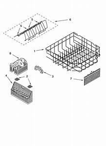 Lower Rack Parts Diagram  U0026 Parts List For Model