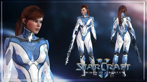 Starcraft II - Sarah Kerrigan Human by Shyngyskhan on