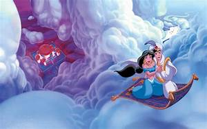 Alladdin and jasmine flying magical carpet desktop hd for Aladdin and jasmine on carpet wallpaper