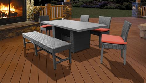 Patio Dining Sets With Bench Seating by Barbados Rectangular Outdoor Patio Dining Table With 4