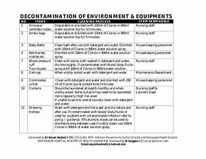 Hospital Environmental Cleaning  U0026 Disinfection  Procedures