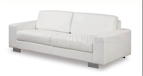 white vinyl sectional sofa white leather vinyl contemporary living room sofa w metal legs