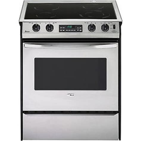 amana     smoothtop convection electric range stainle