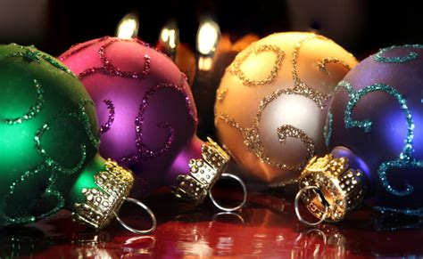 amazing and colorful christmas ornament balls