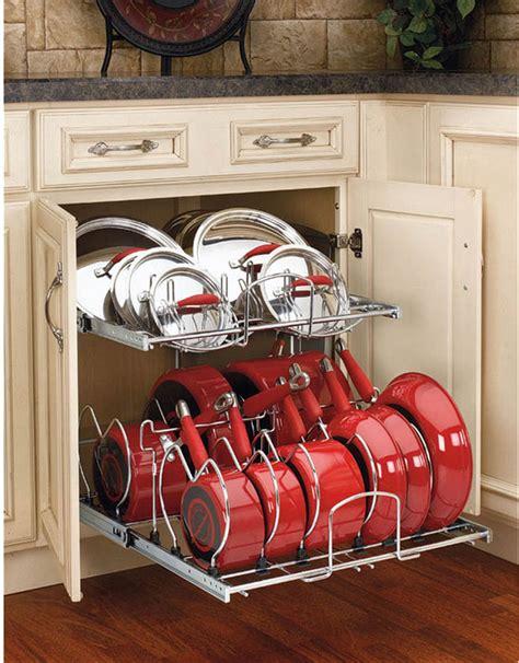 pots and pans rack cabinet kitchen cabinet pots and pans organization 14 kevin amanda