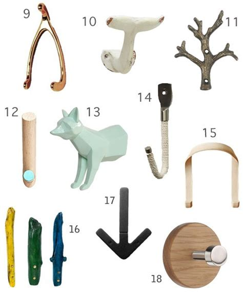 If you are searching for ways to make a small space both functional and attractive, you should consider using hooks in creative ways. Get the Look: 38 Modern Wall Hooks - StyleCarrot