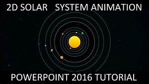 2D Solar System Animation in PowerPoint 2016 Tutorial